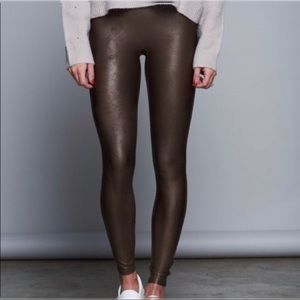 Spanx Ready To Wow Bronze Faux Leather Legging
